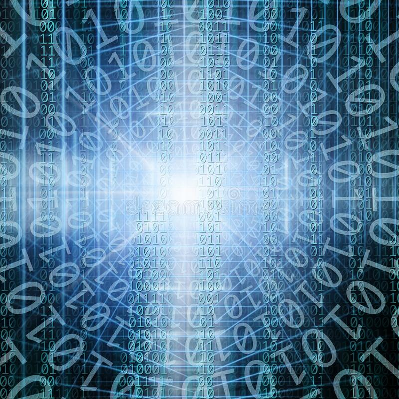 matris av den binära koden stock illustrationer