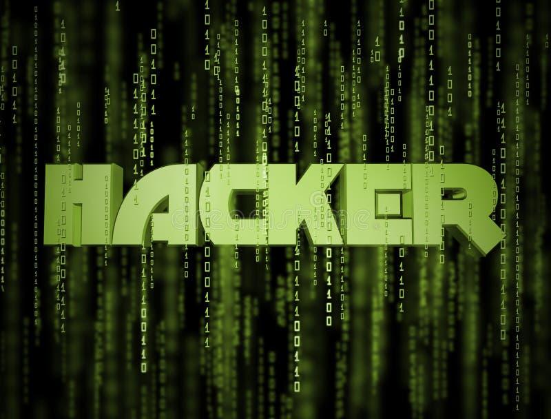 matris för en hacker 3D vektor illustrationer