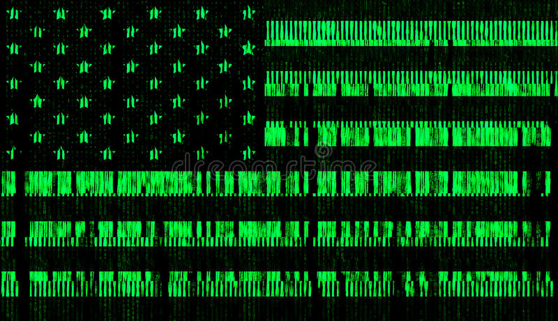 Matris för stil för USA digitaflagga royaltyfri illustrationer