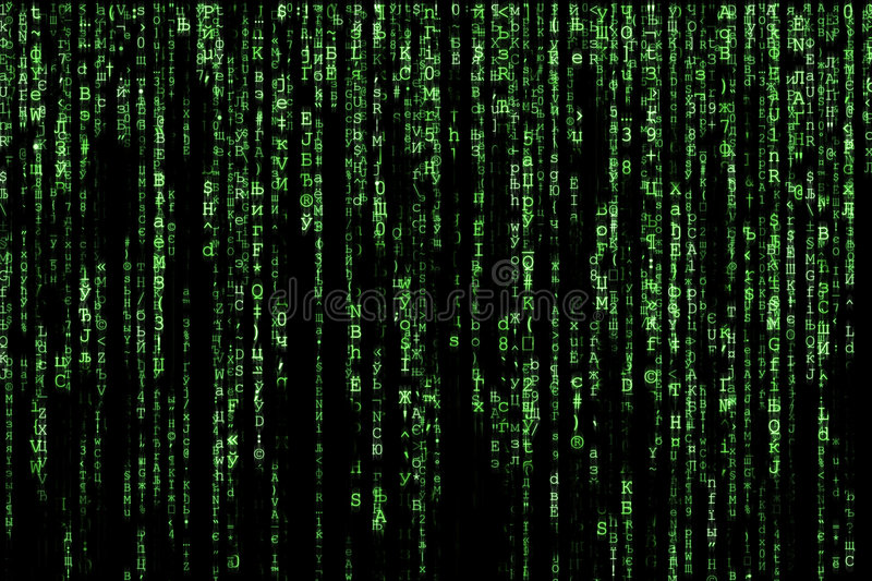 Matrix. Green matrix background computer generated stock image