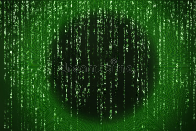 Matrix. Abstract background of matrix eye royalty free stock photography