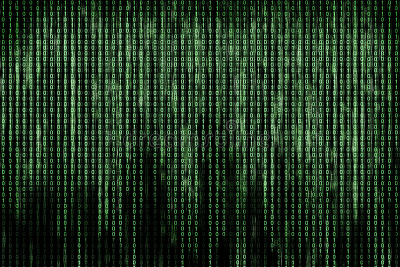 Matrix. Green matrix background computer generated royalty free stock photography