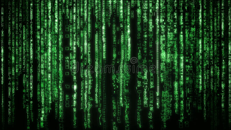 Matrix background. With the green symbols royalty free stock photos