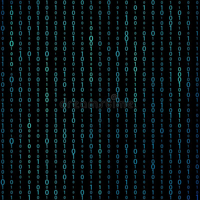 Matrix binary code background vector illustration