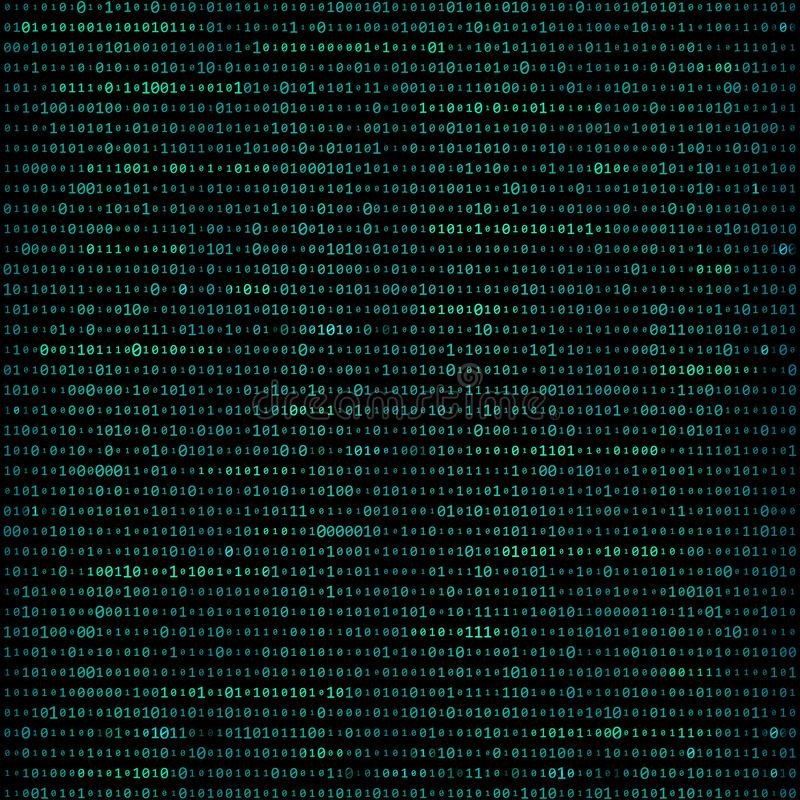 Matrix binary code background royalty free illustration