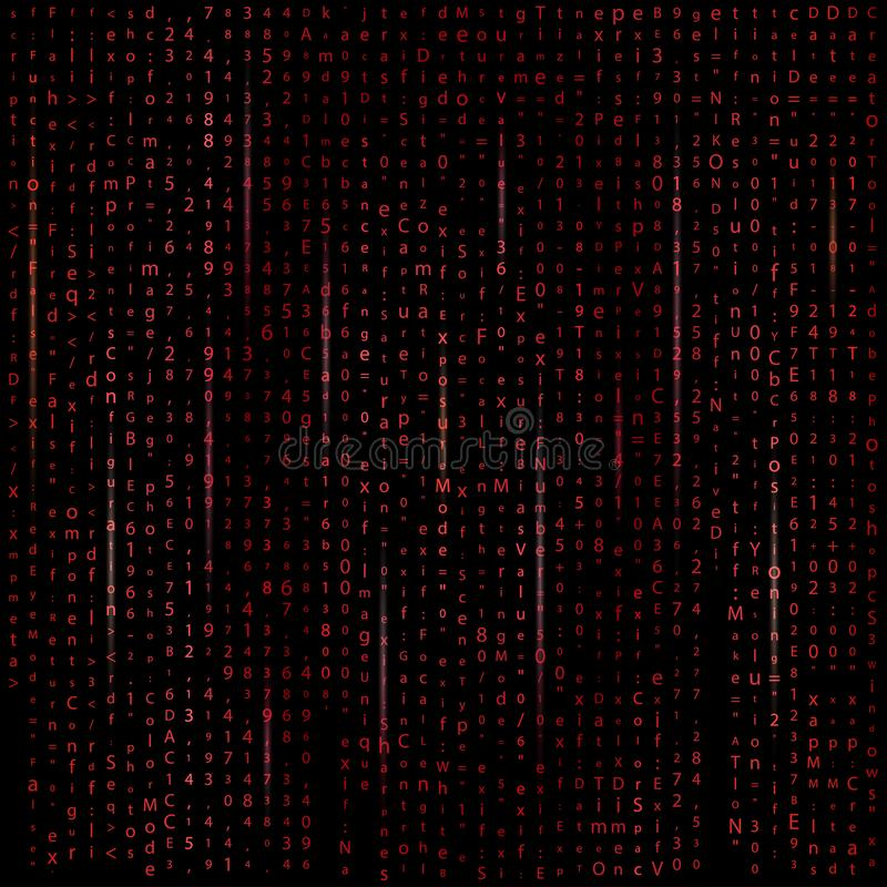 Matrix binary code background stock illustration