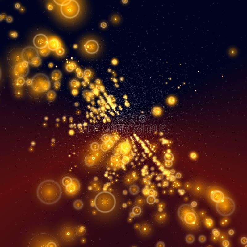 Matrix in der Galaxie lizenzfreie abbildung