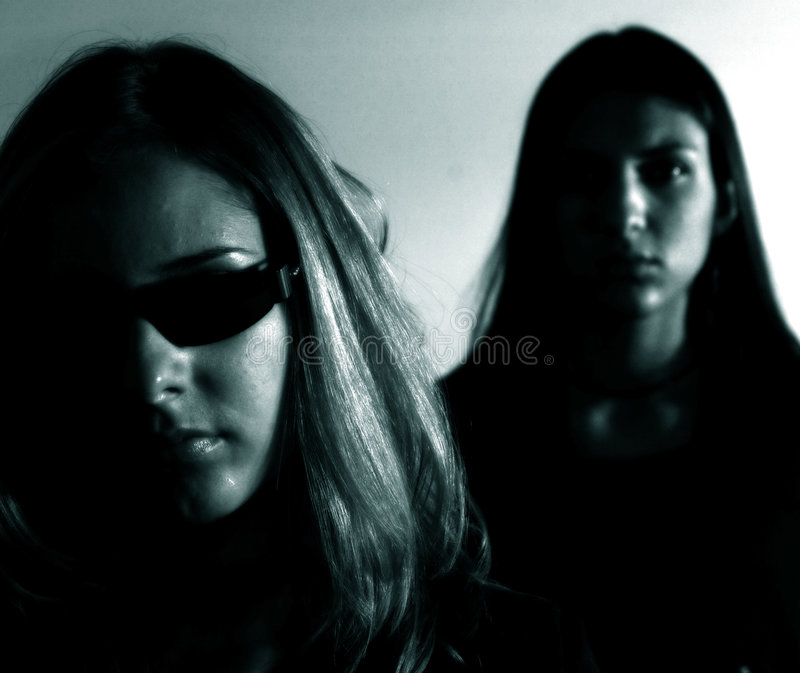 Matrix girls stock photography