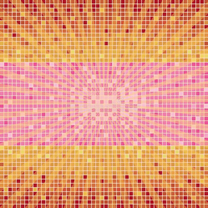 Matrix-Hintergrund-gebrochene Orange lizenzfreie abbildung