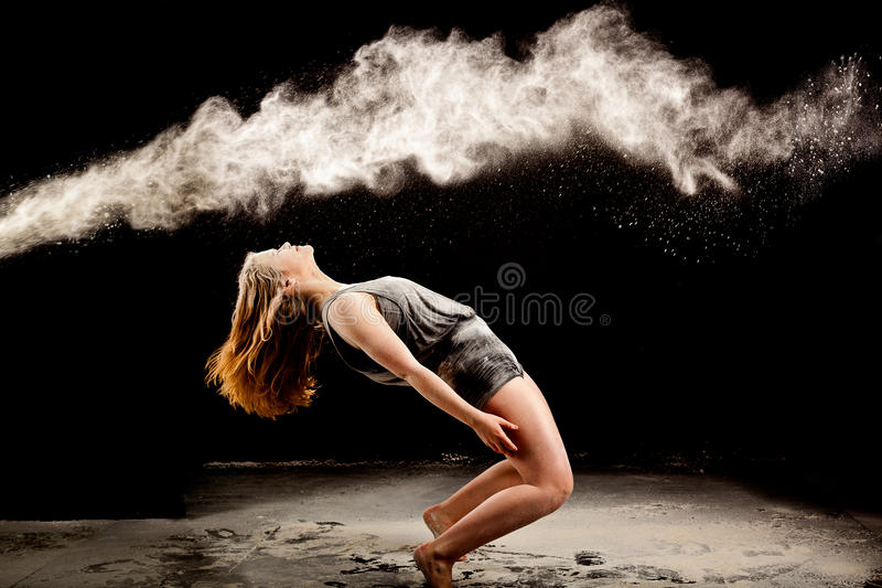 Matrix powder dance pose stock images