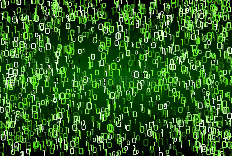 Matrix style green binary numbers background texture stock photo