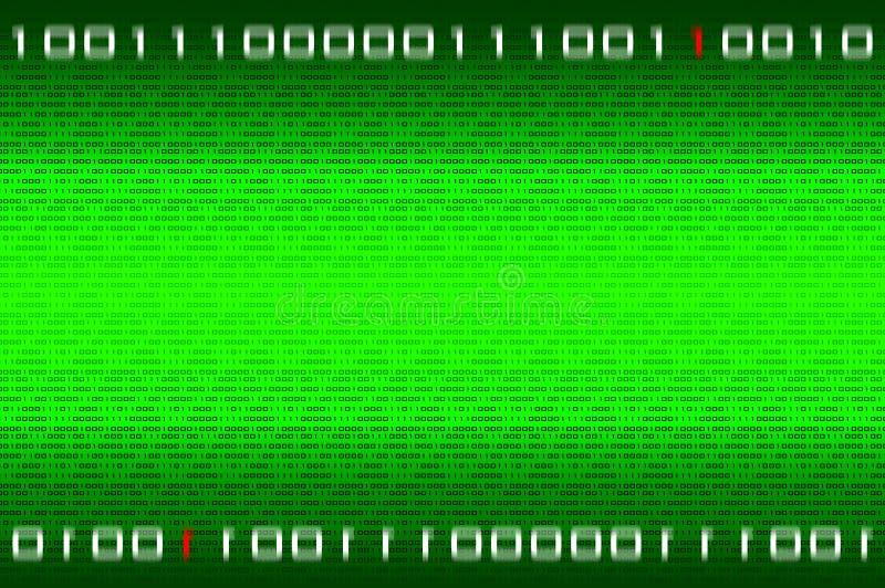 Matrixbinärzahlhintergrund lizenzfreie abbildung