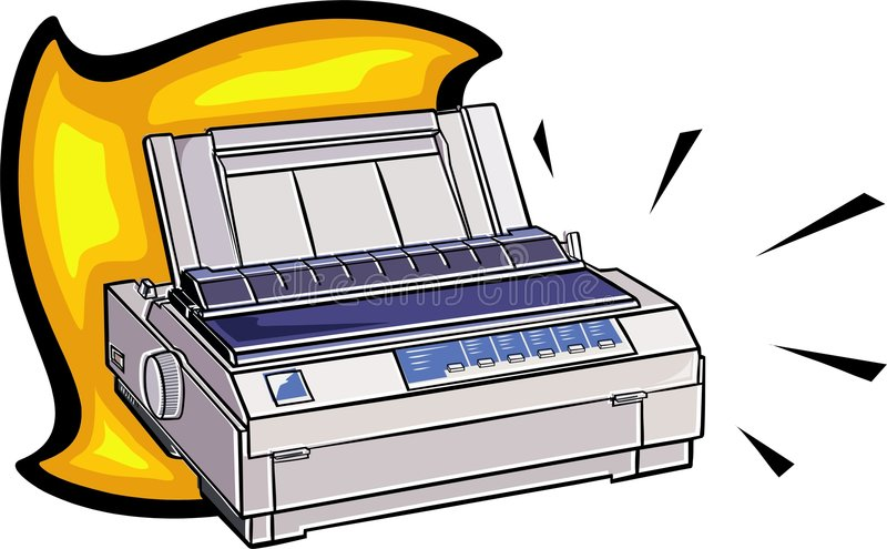 Matrixdrucker lizenzfreie abbildung