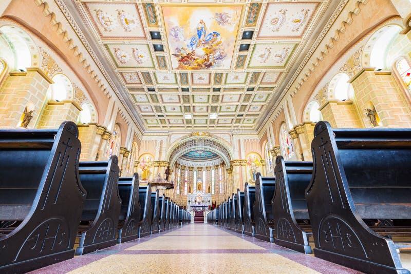 Matriz教会的内部, Igreja做Santissimo萨加门多我 库存照片