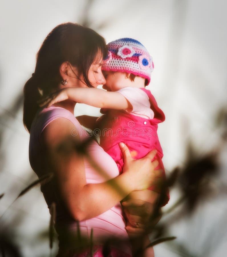 Matriz & criança foto de stock