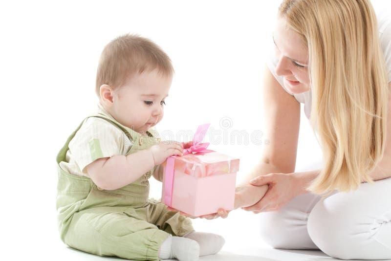 Matriz atual a seu presente do bebé imagens de stock royalty free