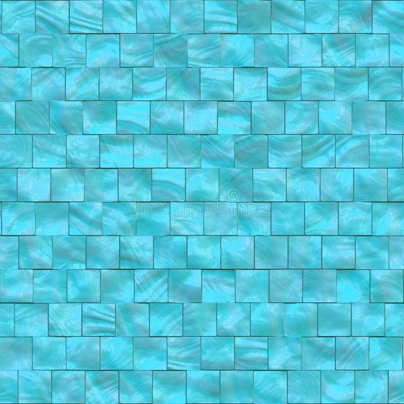 Matriz azul de telhas das pérolas ilustração stock
