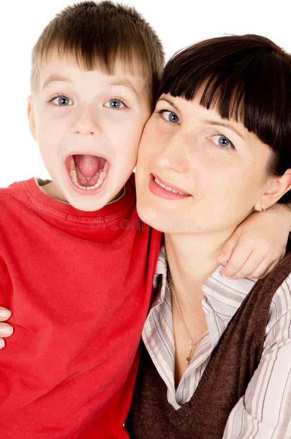 Matriz bonita e seu filho pequeno imagem de stock