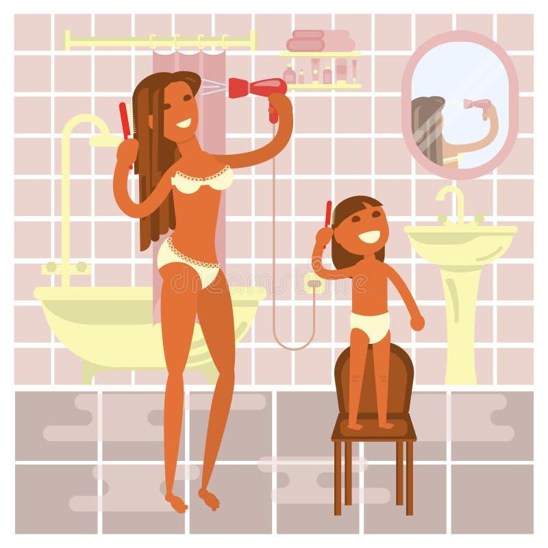 Matriz com bebé ilustração do vetor