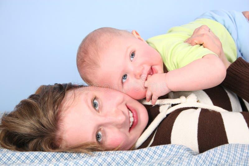 Matriz com bebê imagens de stock