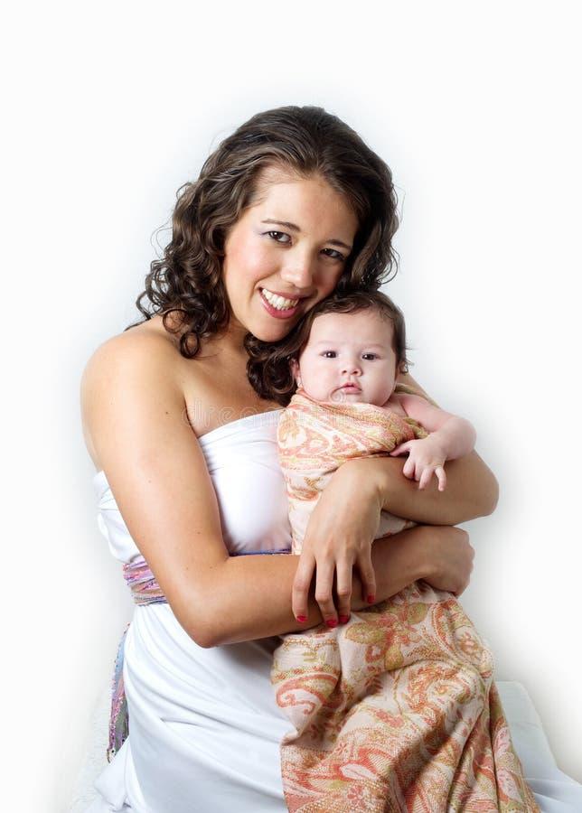 Matriz com bebê do litle imagens de stock royalty free