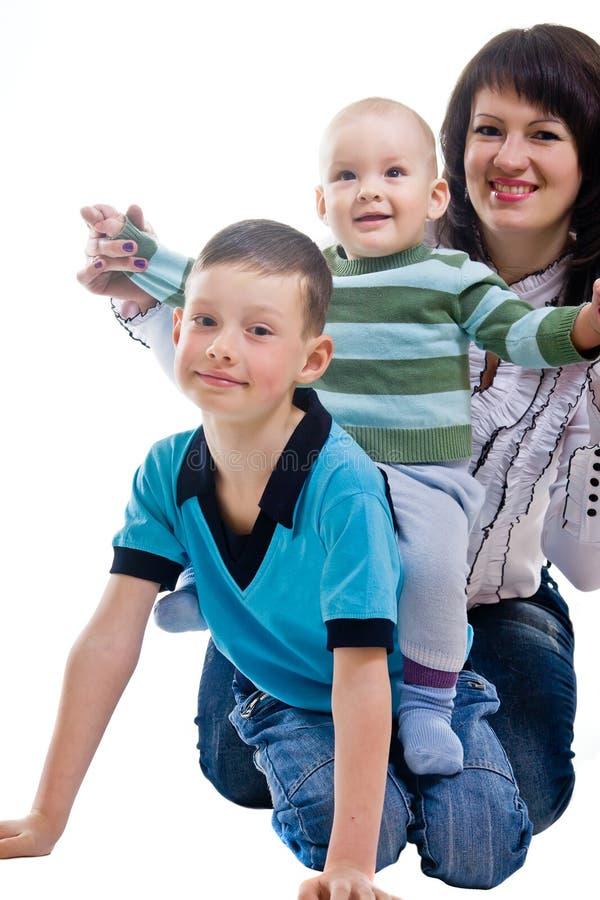 Matriz com dois filhos imagens de stock royalty free