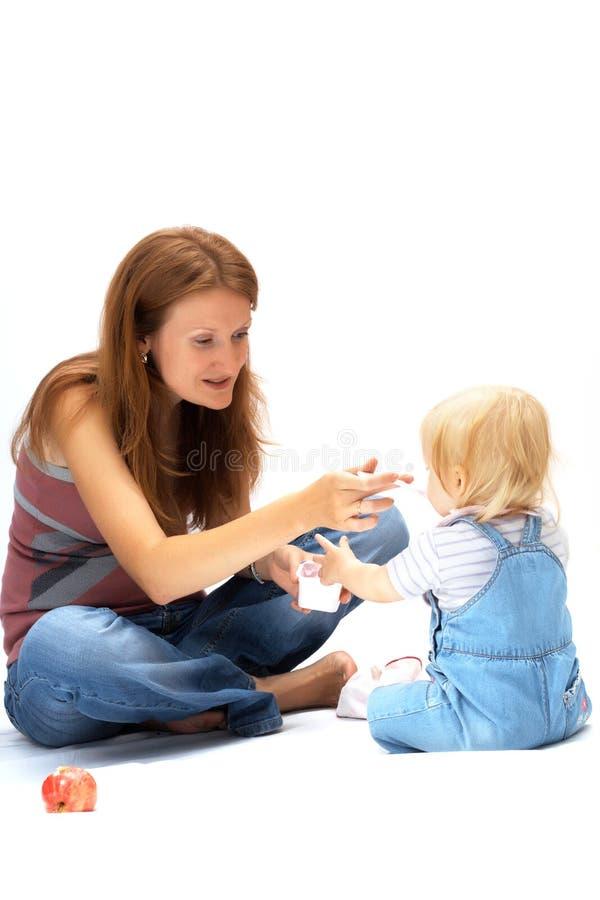 Matriz com filha fotografia de stock