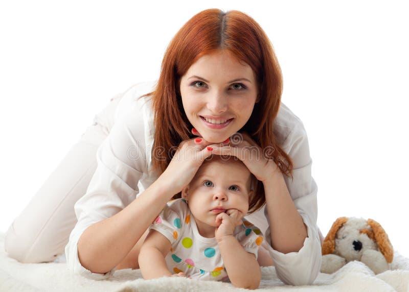 Matriz com o bebê pequeno doce. imagens de stock royalty free