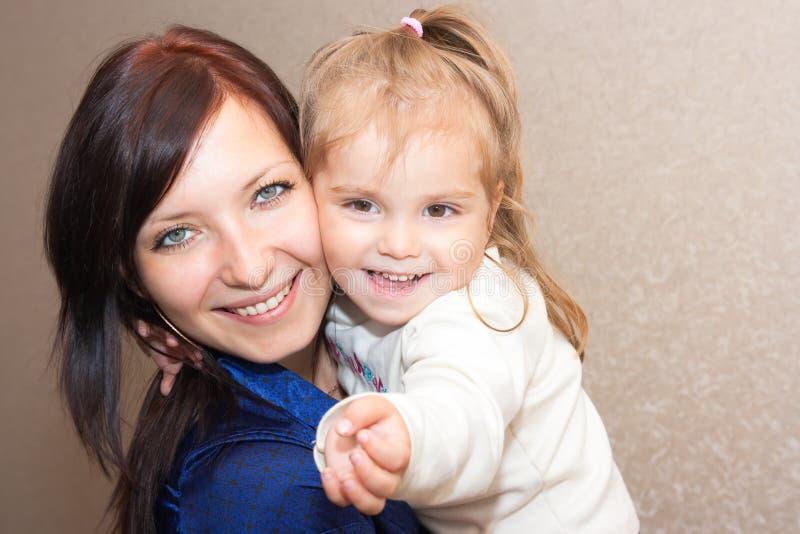Matriz com uma filha fotografia de stock