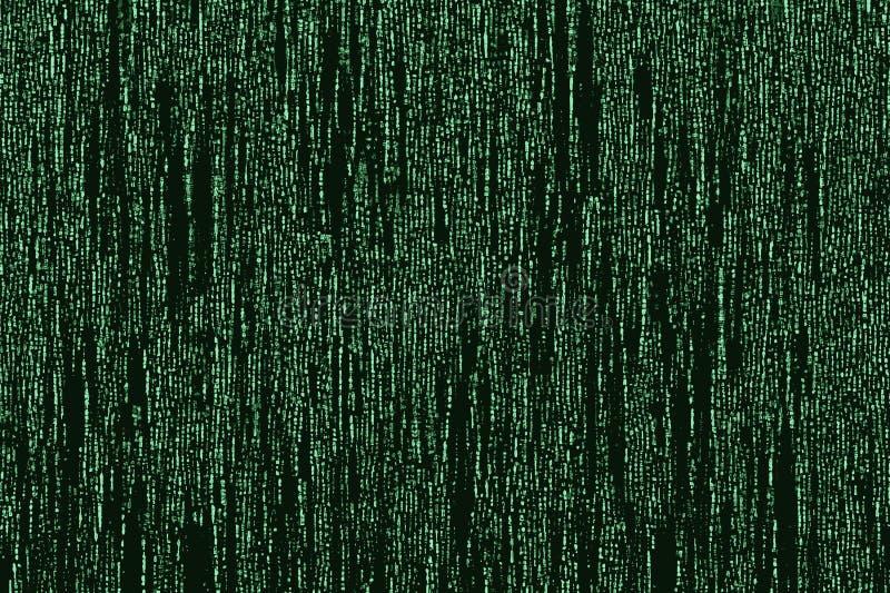 Matriz-como a imagem do código que corre em um terminal de computador ilustração royalty free