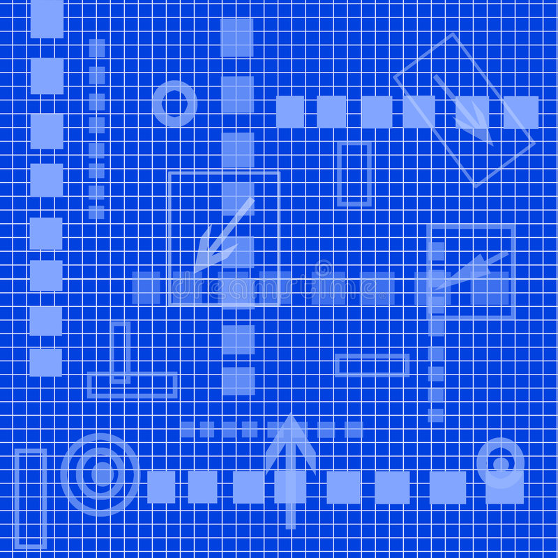Matriz de alta tecnología, azul ilustración del vector
