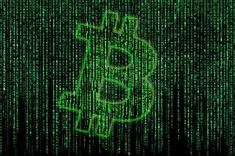Matriz de Bitcoin ilustração stock
