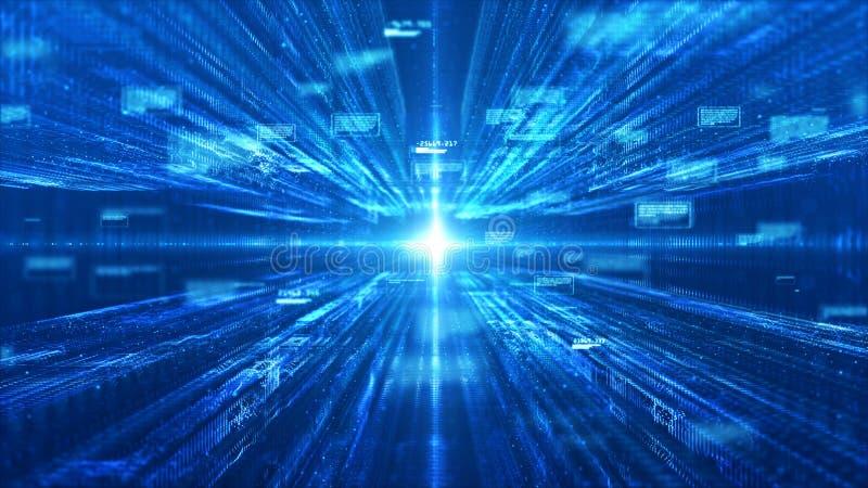 Matriz de Digitaces de la tecnolog?a y fondo abstracto ligero ilustración del vector