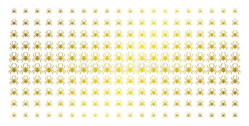 Matriz de intervalo mínimo dourada da aranha ilustração do vetor