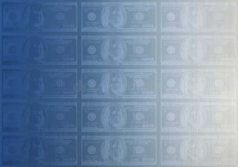 Matriz de la placa 100$ ilustración del vector