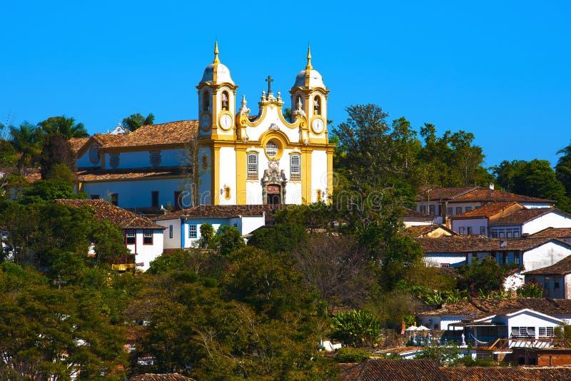 Matriz de Santo Antonio church tiradentes brazil royalty free stock photography