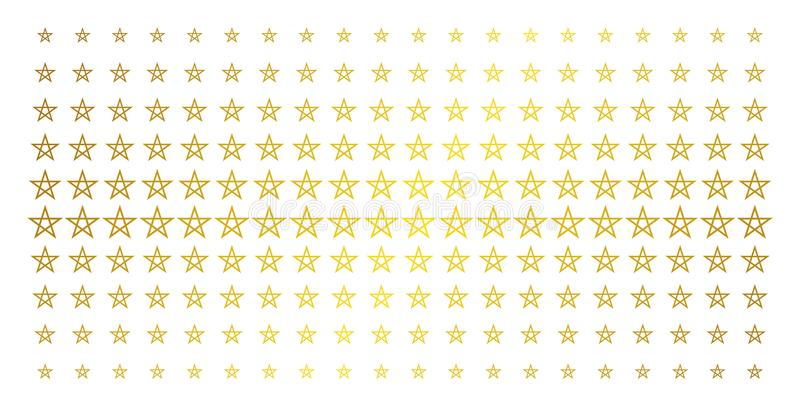 Matriz de semitono de oro del Pentagram de la estrella libre illustration