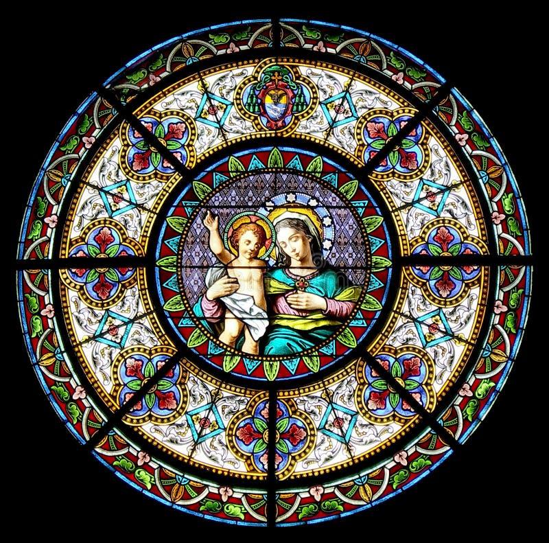 A matriz do deus com bebê Jesus fotos de stock royalty free