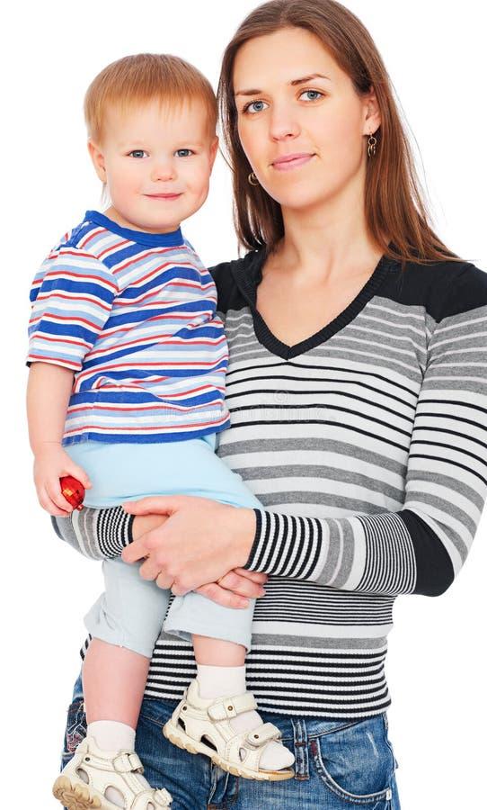 Matriz do smiley com filho fotografia de stock