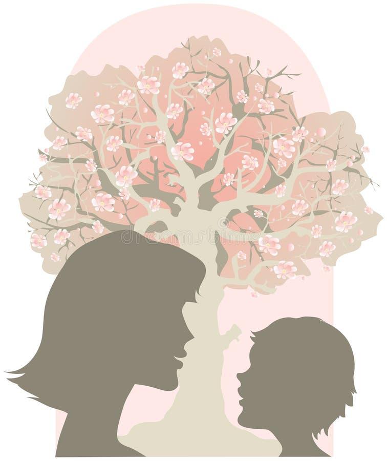 Matriz e criança ilustração royalty free