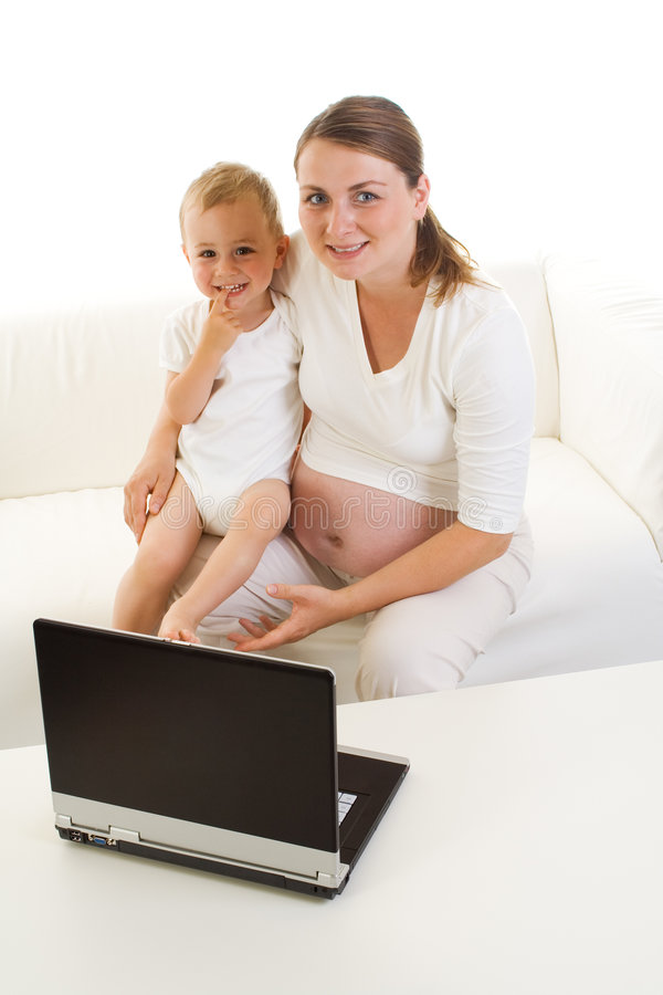 Matriz e criança grávidas fotos de stock