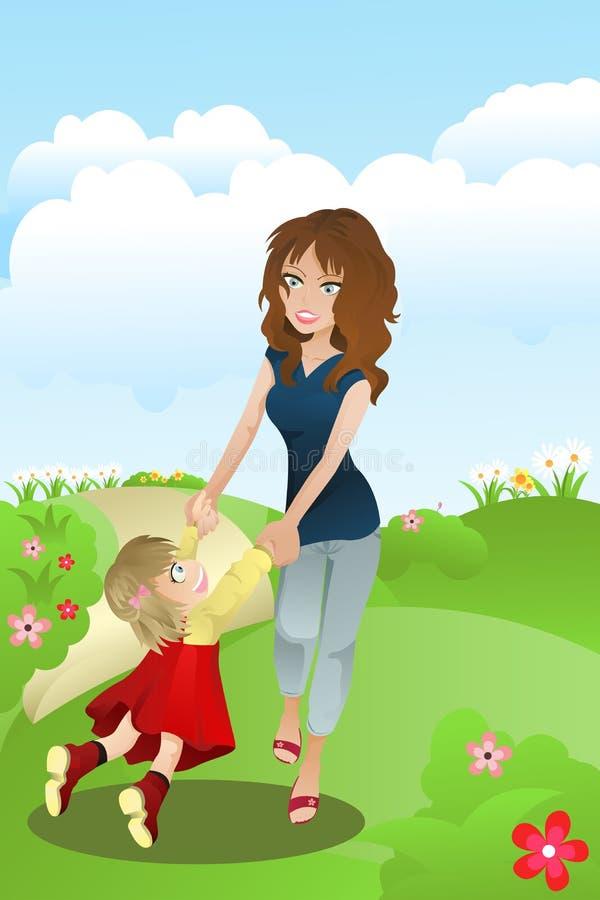 Matriz e filha ilustração royalty free