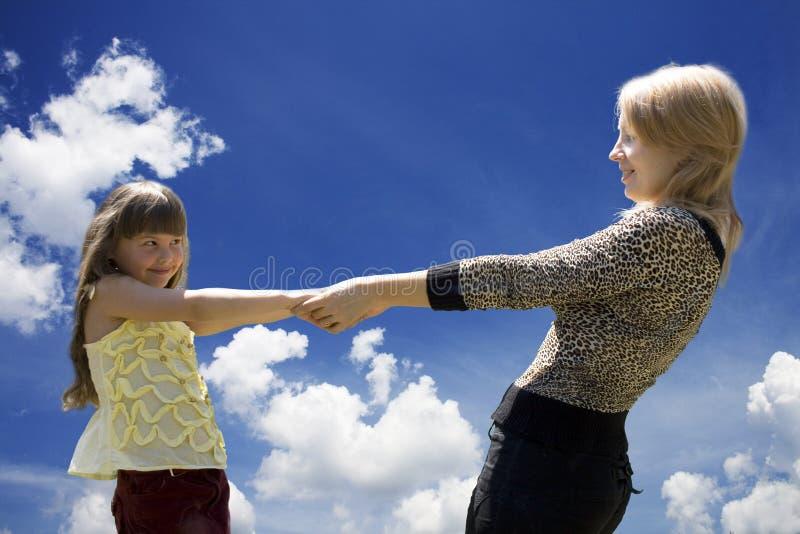 A mãe e a filha 2 fotos de stock royalty free