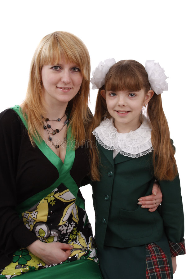 Matriz e filha. foto de stock