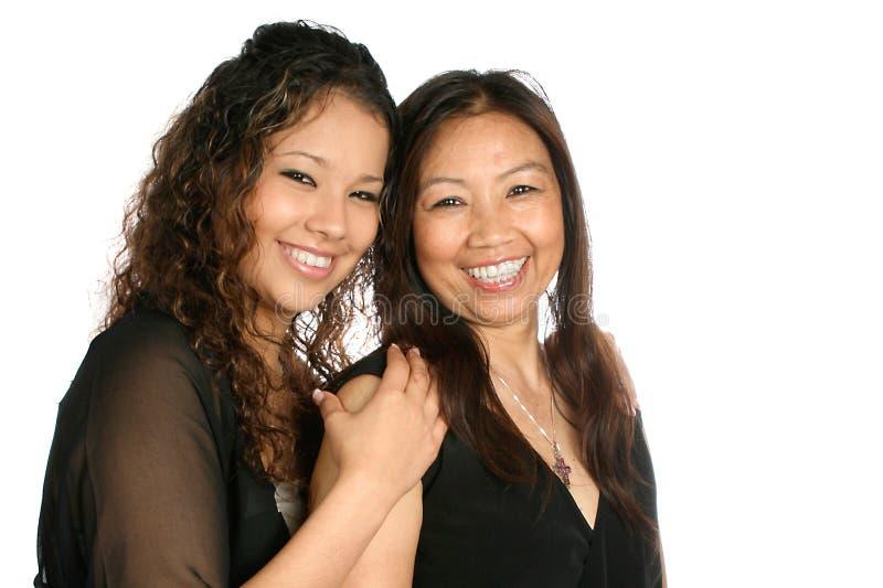 Matriz e filha de tailandês fotografia de stock