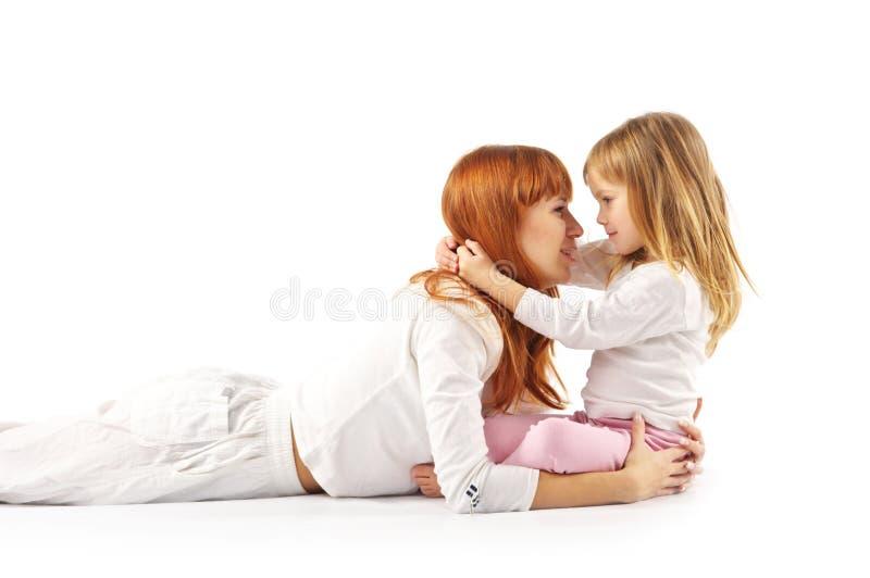 Download Matriz e filha felizes foto de stock. Imagem de caucasiano - 12811978