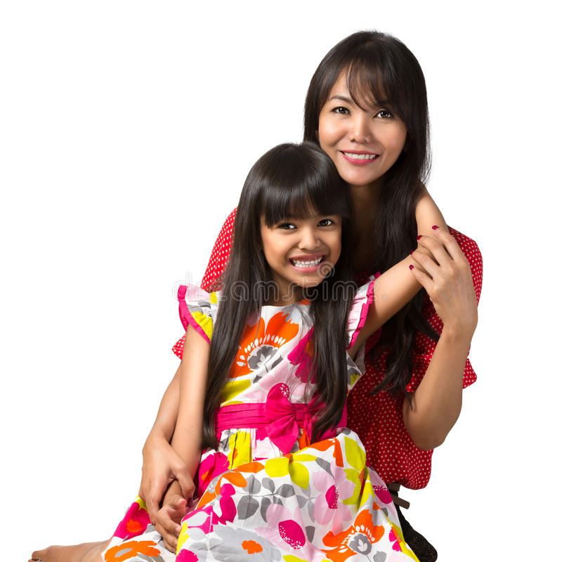 Matriz e filha felizes fotografia de stock