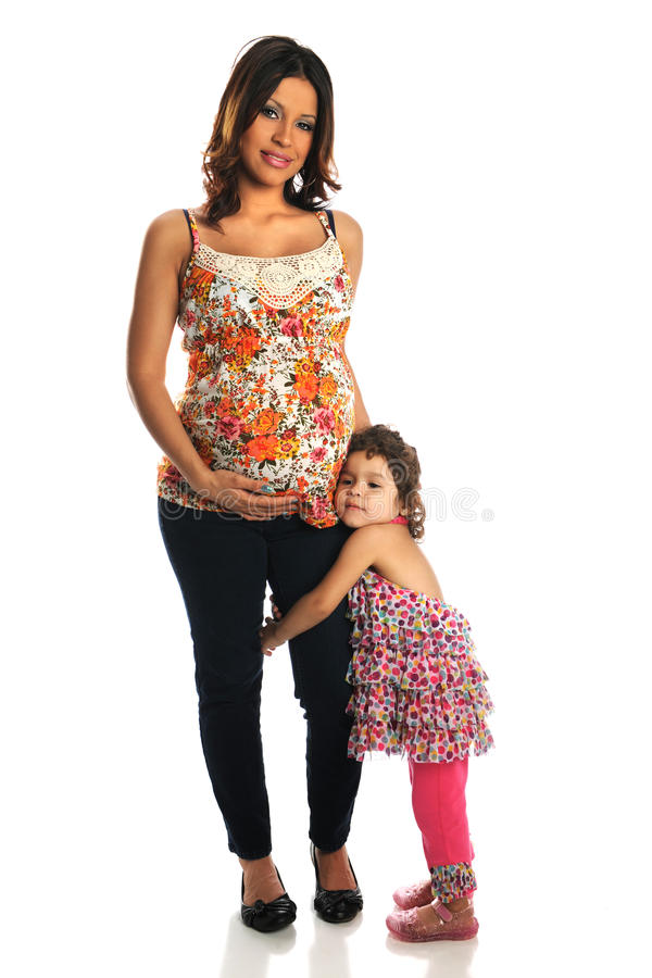 Matriz e filha latino-americanos foto de stock royalty free