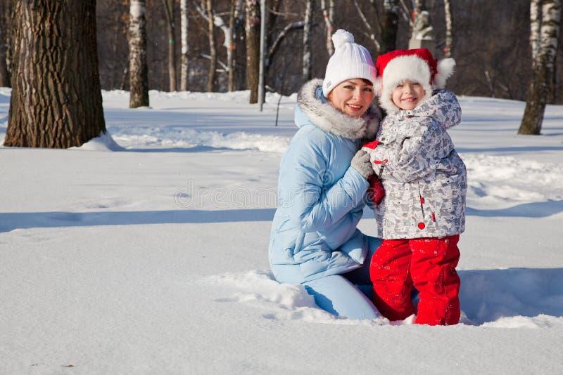 Download Matriz E Filha No Parque Do Inverno Imagem de Stock - Imagem de outdoors, divertimento: 12809919
