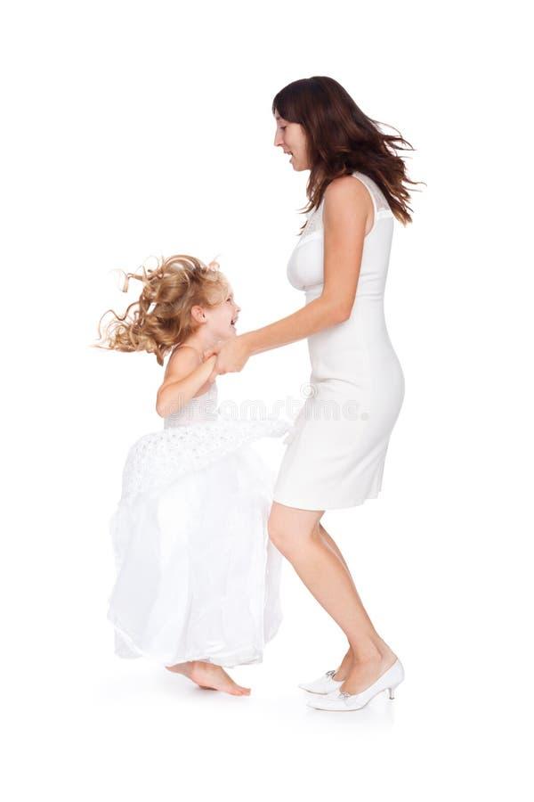 Matriz e filha que têm o divertimento imagem de stock